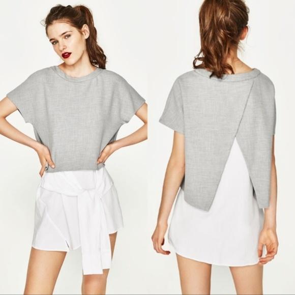 e8e910e4 Zara Dresses   Nwt Knot Front Contrast Dress   Poshmark